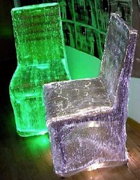 Lumigram luminous table chair fiber optic fabric