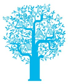 dida-KIT hut for bird blue