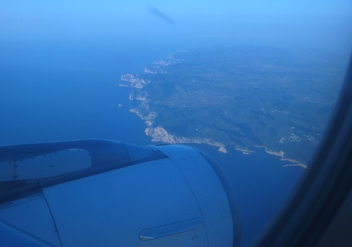 Ibiza island from the plane