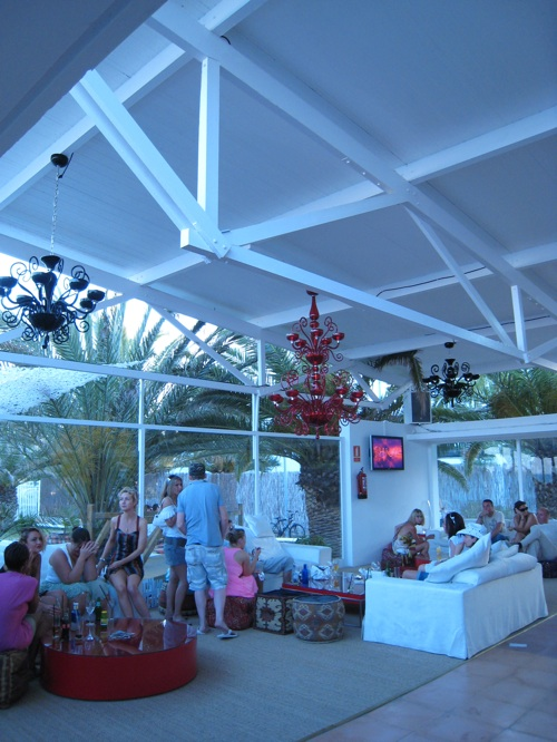 Club Azuli Party Ibiza beach lounge