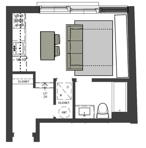 M2JL STUDIO layout plan bachelor unit