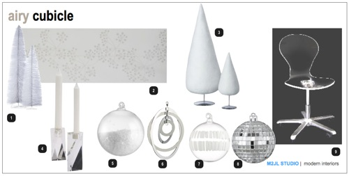 Airy Christmas Decoration Trends Cubicle Moodboard