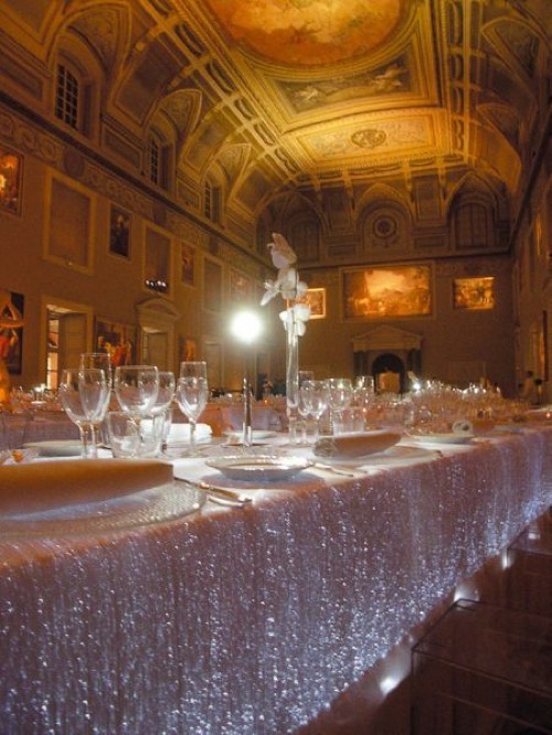 Lumigraph luminous table cloth fiber optic fabric