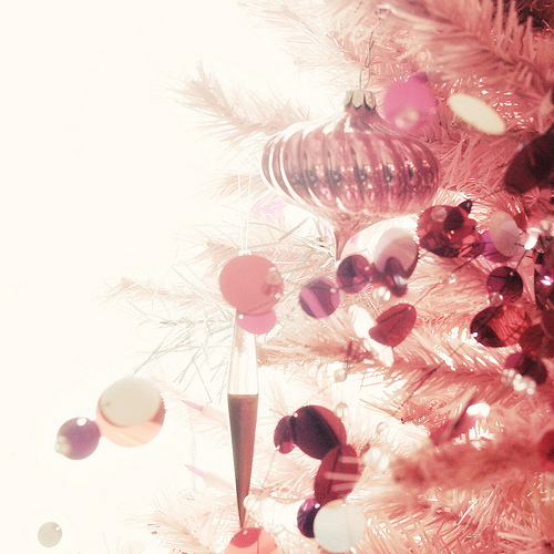 Christmas decoration pink