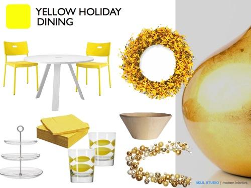 Christmas modern decoration inspiration orange white dining