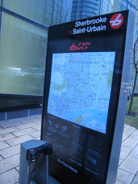 Bixi bikes Montreal UQAM