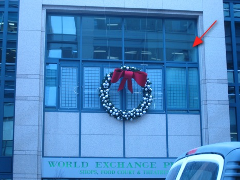 Ottawa World Exchange Plaza BBB Architects Modern Ottawa whale Christmas wreath