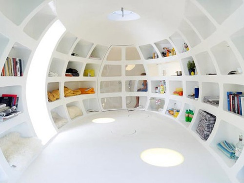 Blob living pod by dmvA architects