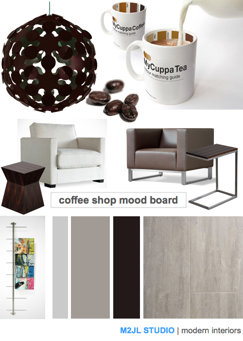 M2JL STUDIO | modern interiors inspiration board coffee shop