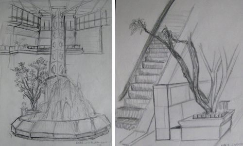sketches by Marie of M2JL STUDIO | modern interiors