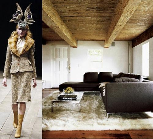 Fashion inspiring interior design Alexander McQueen