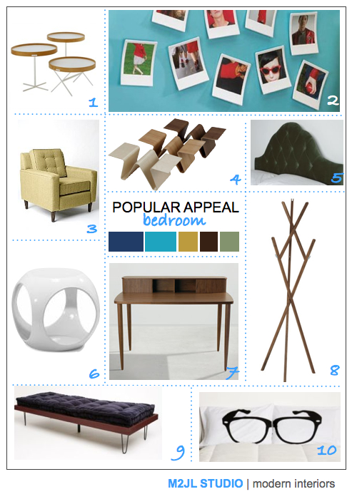 popular appeal fashion design trend spring summer 2010 bedroom inspiration mood board