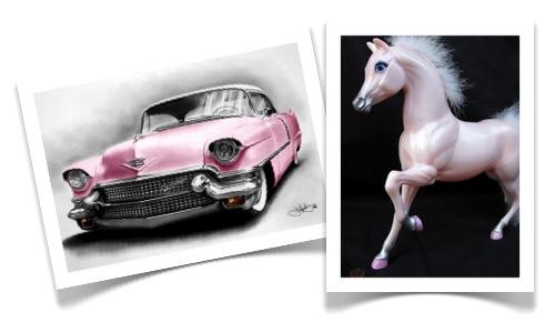 pink Cadillac pink pony