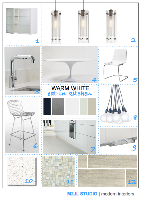 modern white kitchen minimalist inspiration board IKEA