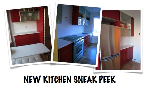 new red kitchen redesign IKEA Akurum Abstrakt High gloss red sneak peek by M2JL STUDIO | modern interiors