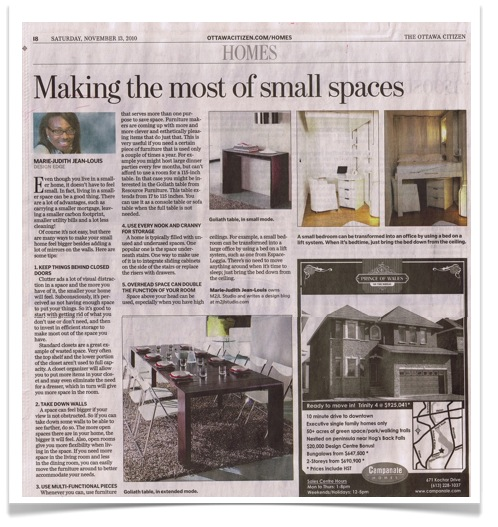 Ottawa Citizen Design Edge Marie-Judith Jean-Louis Making the most out of small spaces