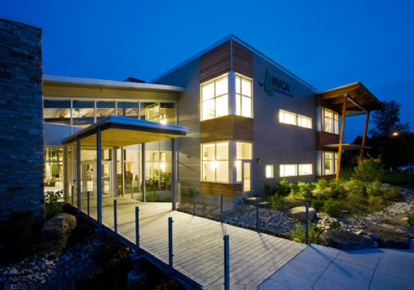 Modern government building Ottawa Rideau Valley Conservation Centre by Christopher Simmonds Architect LEED Gold