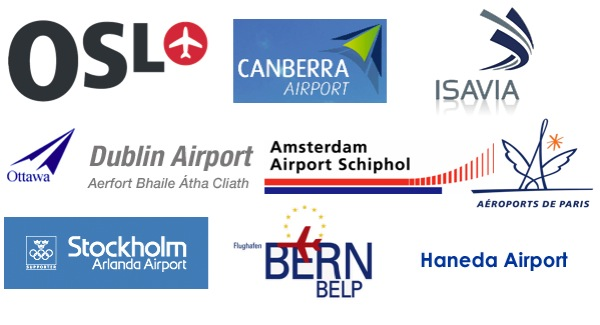 Airport logos top 10 countries capitals