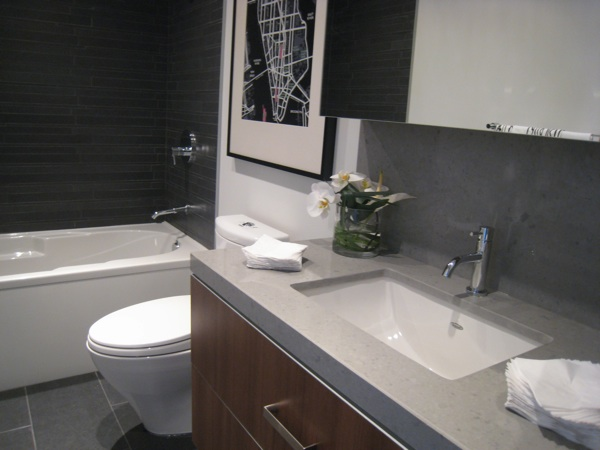 Central 2 modern ottawa condos by Urban Capital model suite bathroom