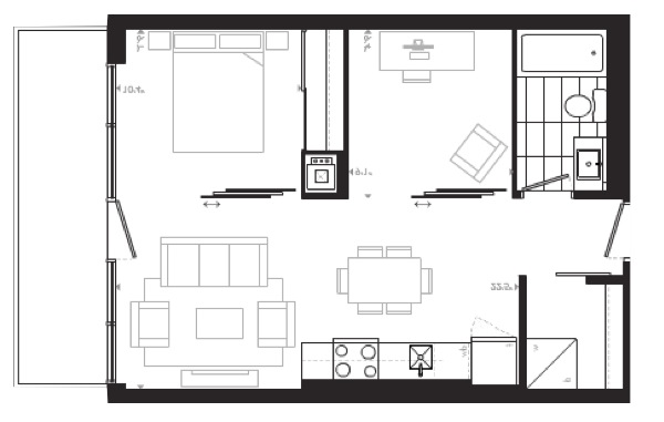 Central 2 modern ottawa condos by Urban Capital brampton model suite floor plan