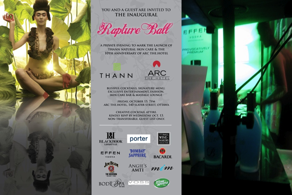 Rapture ball poster ARC Hotel THANN products