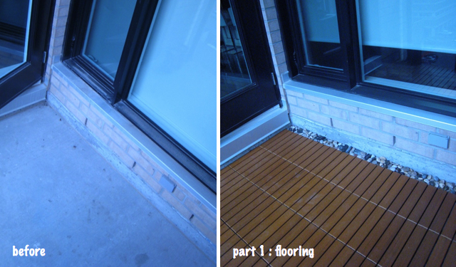 condo balcony urban terrace Balcony and Deck Tiles by EON before after