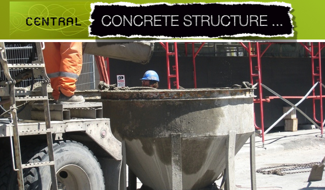 Central condominium concrete structure construction