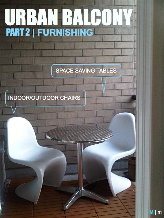 modern balcony furnishing panton chair white M2JL STUDIO | modern interiors