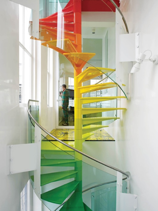 rainbow house stairs London