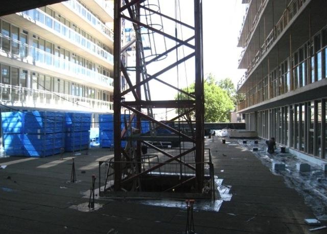 Modern Ottawa Central 1 Condominiums courtyard construction