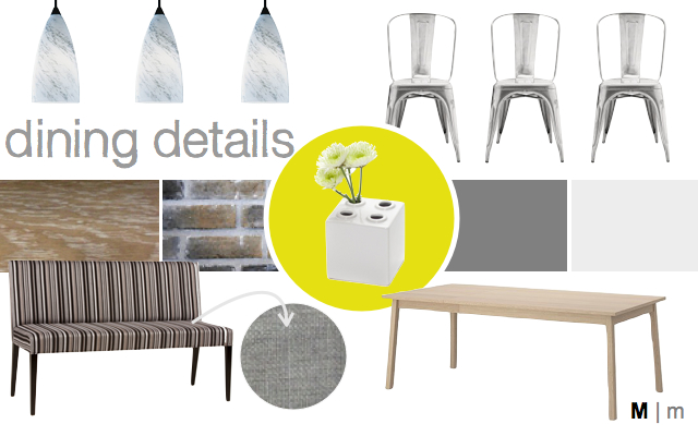 moodboard dining area