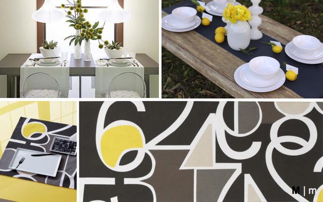 modern table setting CB2