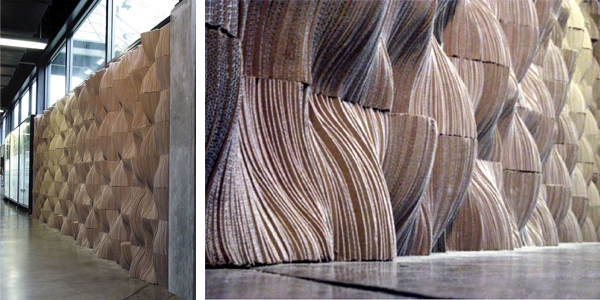 Wall Wave cardboard walls