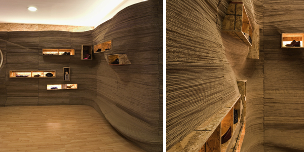 Papercut shop by darchstudio cardboard walls