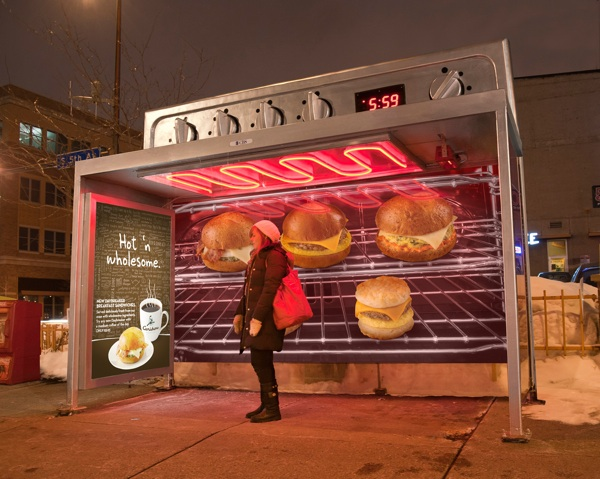 ambient ad bus shelter Colle+McVoy photographer Terry Brennan