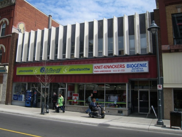 Modern Ottawa building design bank street centertown color gay village