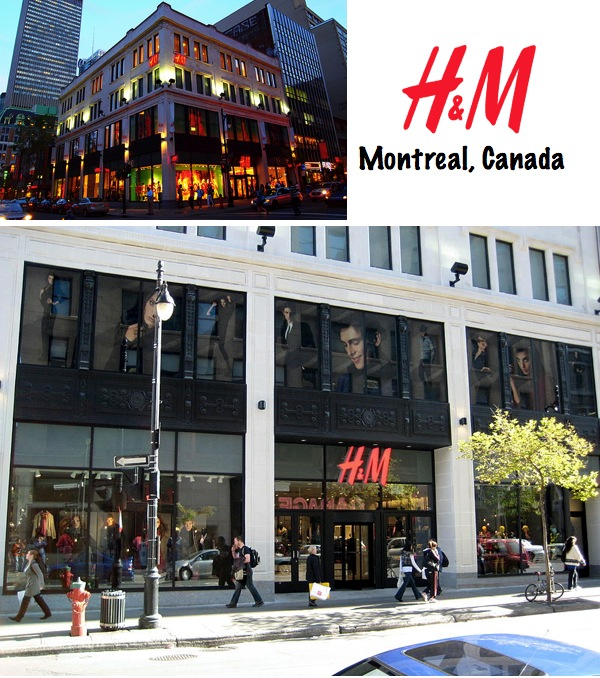 H&M store Montreal Canada
