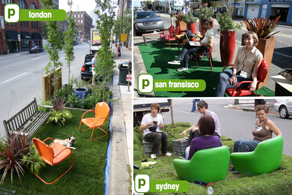 Park(ing) Day Ottawa New York, Hong Kong, London, San Francisco, Australia