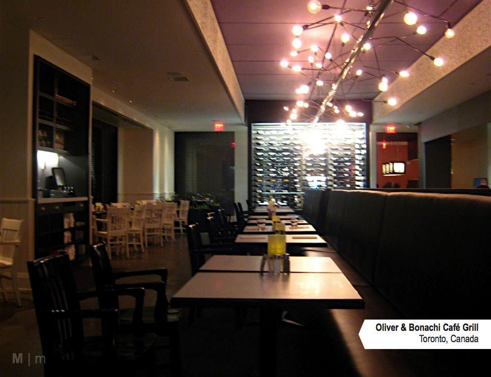 M2JL STUDIO | Oliver & Bonachi Café Grill Toronto, Canada