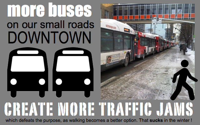 Ottawa transportation issues buses cars bicycle pedestrians metro underground subway system