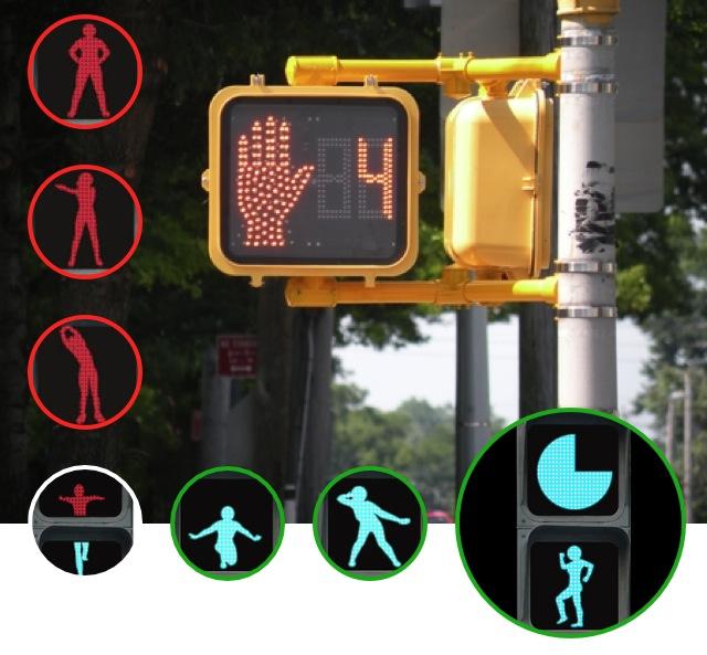 modern traffic light designed by Li Ming Hsing