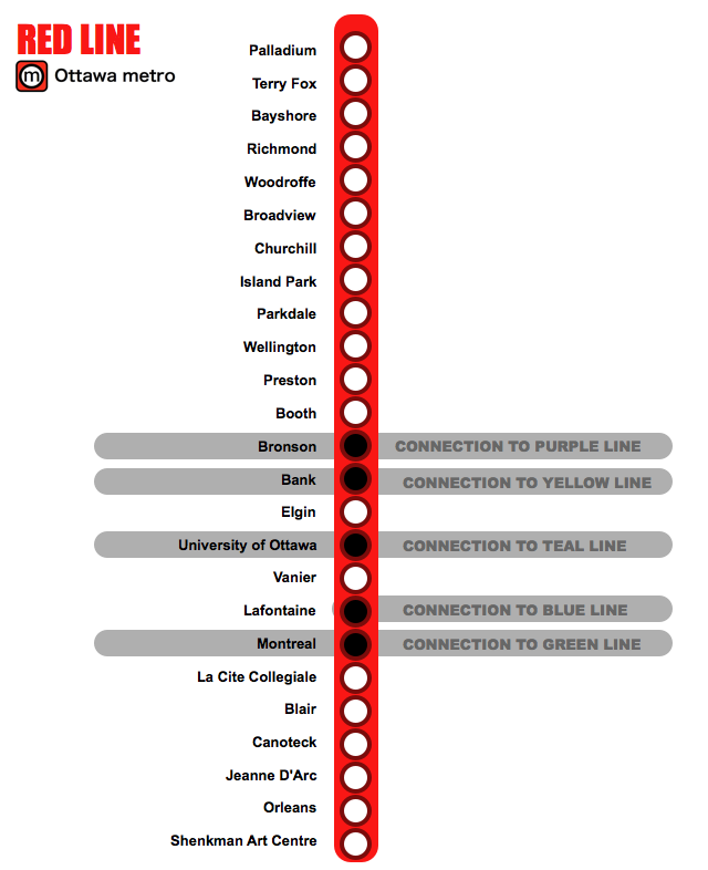 Modern Ottawa Metro map