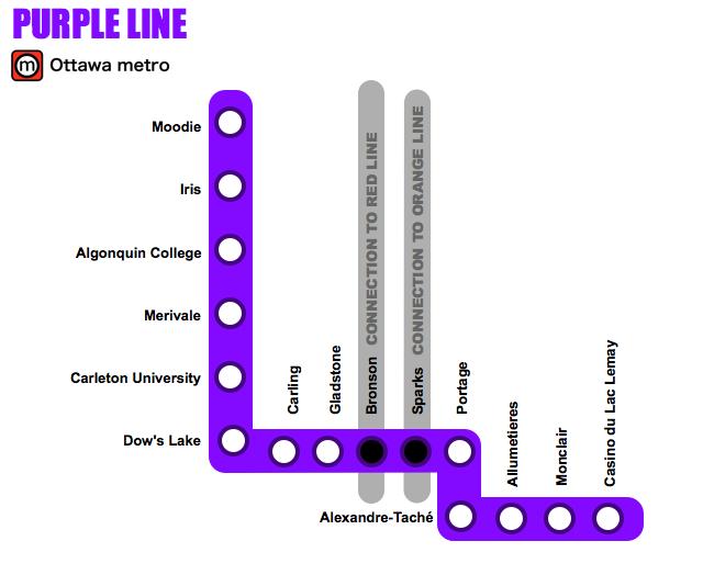 Modern Ottawa Metro map