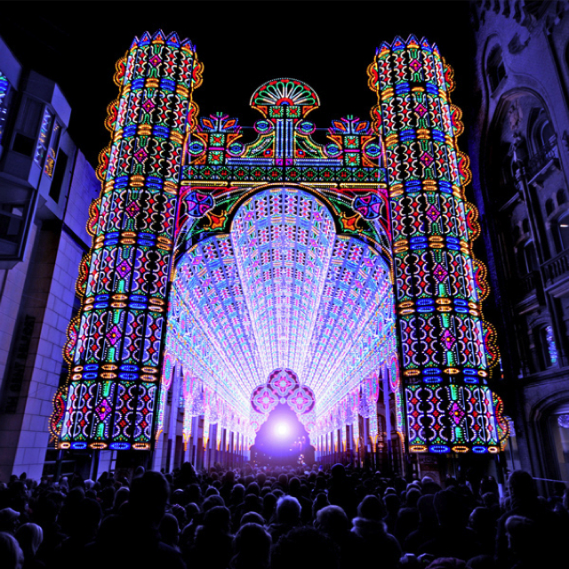 2012 Festival of Lights Ghent Belgium Luminaire De Cagna