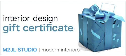 interior design and decoration consultation gift certificate ideal holiday gift for your friends and family