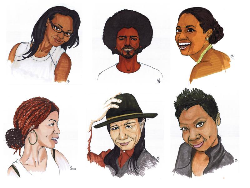 MJ SKETCHBOOK   Facebook Likes Portraits