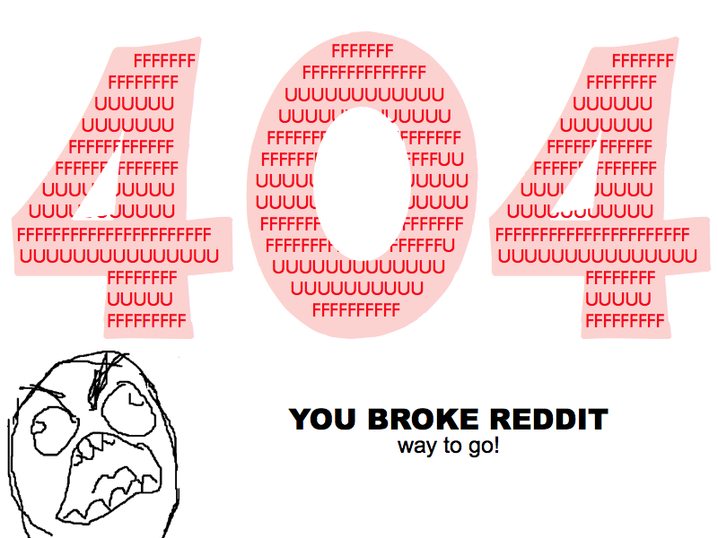 Reddit 404 Page You Broke Reddit