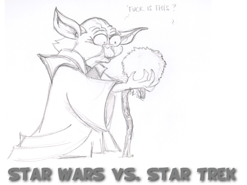 Reddit Sketch Daily Yoda vs Chibble Star Trek vs Star Wars