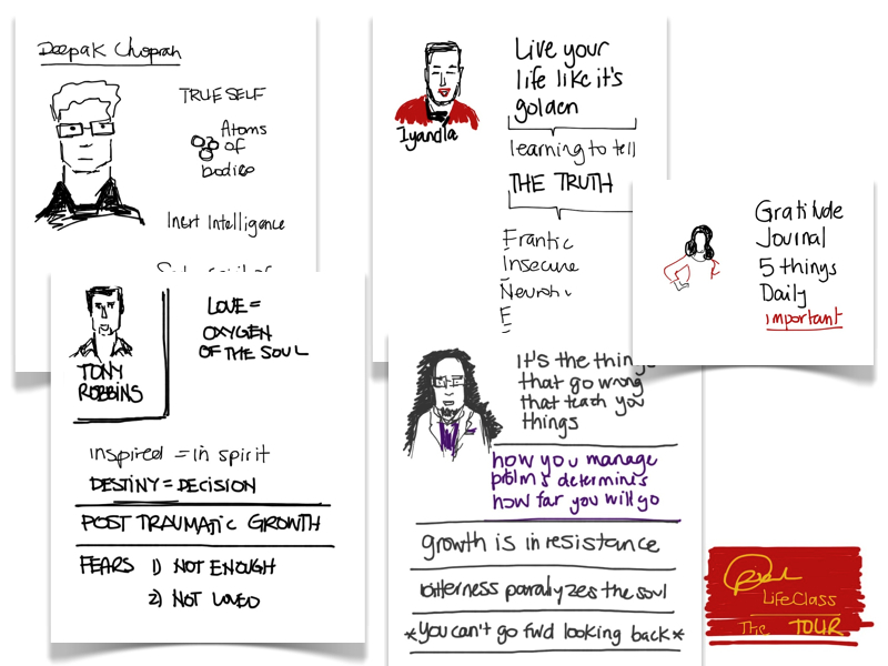 MJ Sketchbook | Oprah Life Class Tour Toronto Sketchnotes