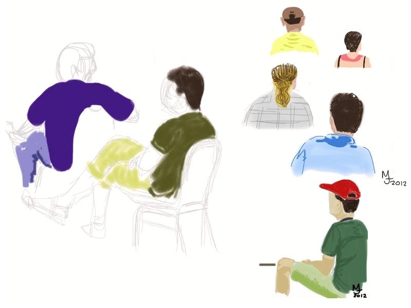 MJ SKETCHBOOK | Urban sketches | Ipad | DEF CON 20